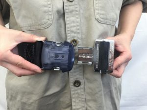 ワンタッチ式の安全帯 一般高所用安全帯(胴ベルト式)編